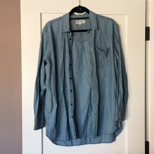 Madewell Oversized Chambray Boyshirt